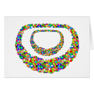 ARTISTIC Graphic Necklace Jewel Decoration BLESS Card