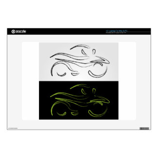 Artistic graphic of motorbike skin for laptop