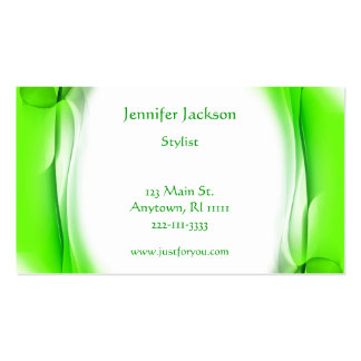Artistic Green Business Cards