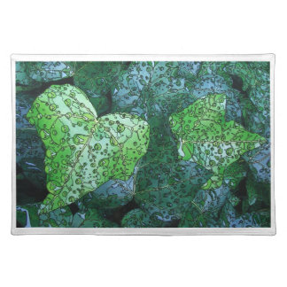 Artistic Green Dew and Rain Placemat