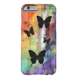 Artistic Grunge Butterflies Barely There iPhone 6 Case