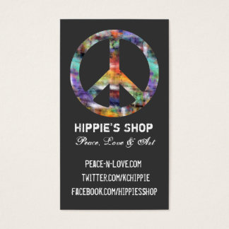 Artistic Grunge Peace Sign Custom Business Cards