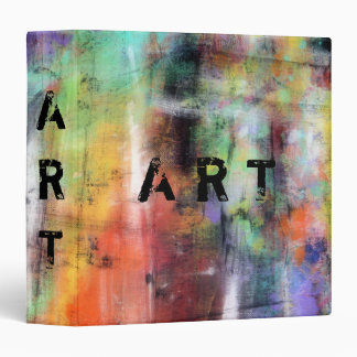 Artistic Grunge Vinyl Binder