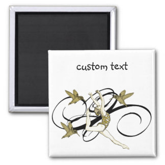 Artistic gym 2 2 inch square magnet