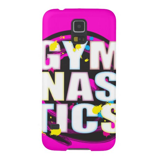 Artistic Gymnastics Paint Pink Cases For Galaxy S5