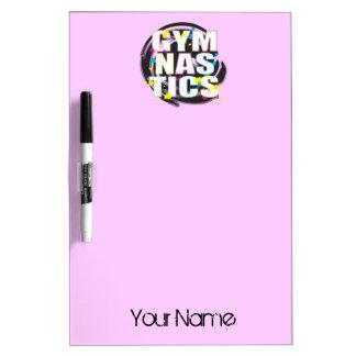 Artistic Gymnastics Paint Pink Dry-Erase Board