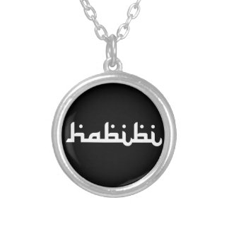 Artistic Habibi Silver Plated Necklace