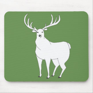 Artistic Hand-drawn Whitetail Deer Stag Drawing Mouse Pad