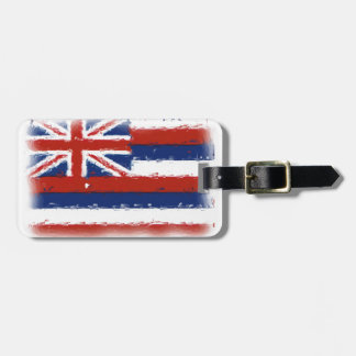 Artistic Hawaii painted flag Travel Bag Tags