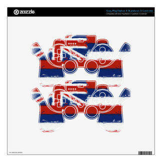 Artistic Hawaii painted flag PS3 Controller Decal
