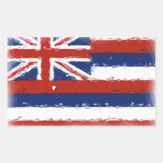 Artistic Hawaii painted flag Rectangular Sticker