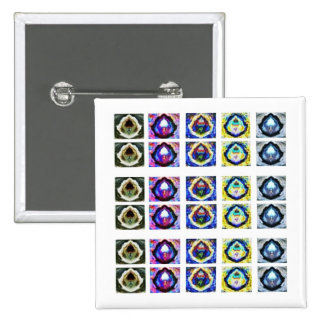 Artistic Holistic Havenly Graceful Pattern 2 Inch Square Button