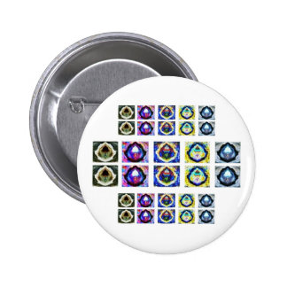Artistic Holistic Havenly Graceful Pattern 2 Inch Round Button