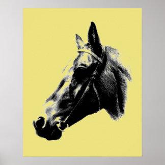 Artistic Horse Head Poster