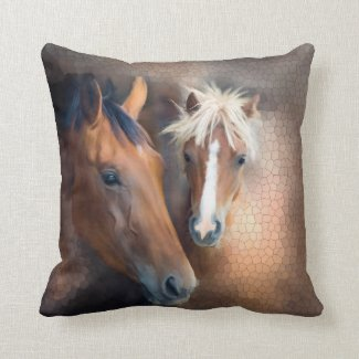 Artistic Horses Animal Pillow