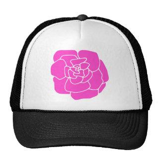 Artistic Hot Pink Rose Trucker Hat