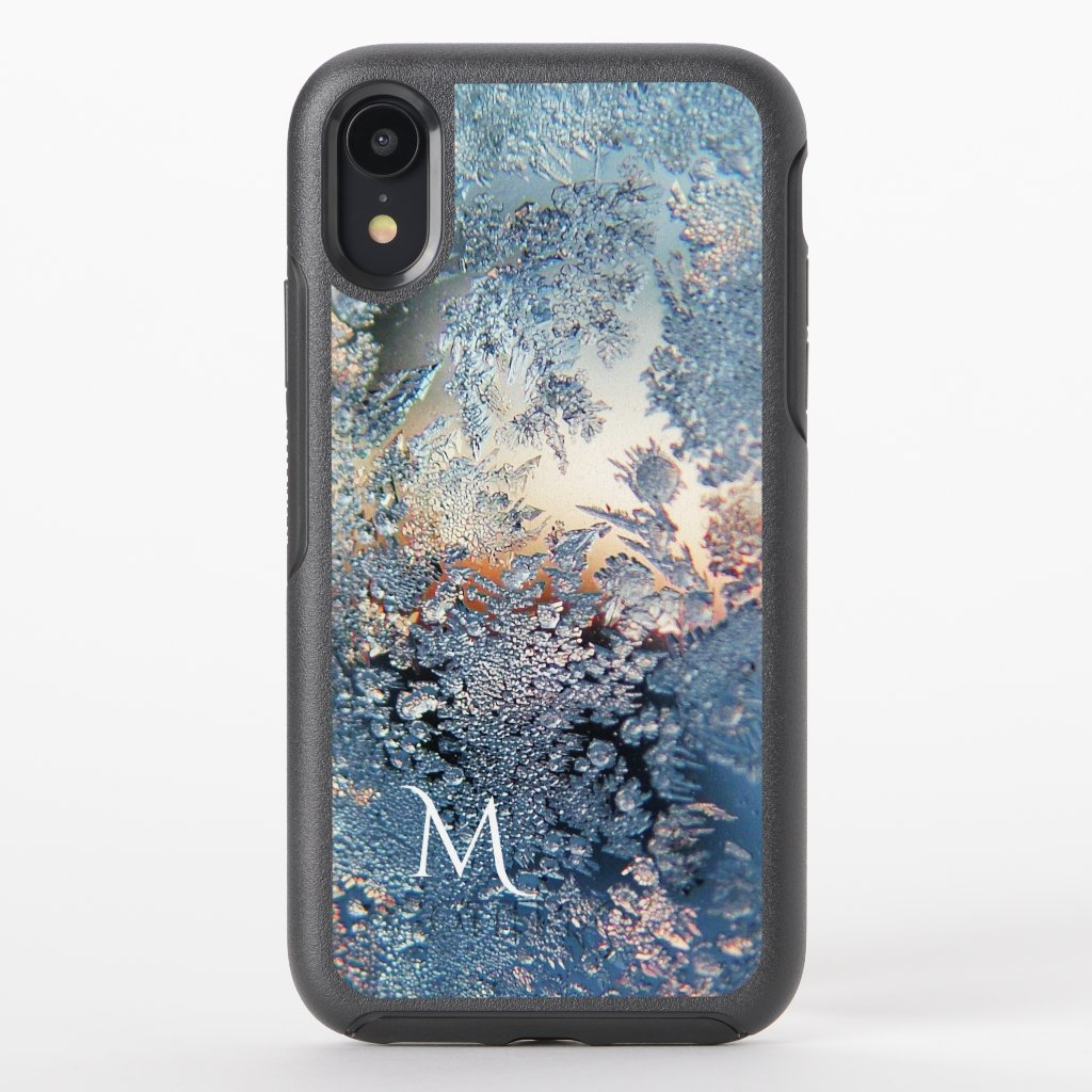 Artistic Ice Crystal Monogram Otterbox iPhone Case