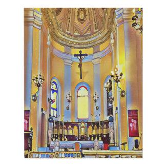 Artistic Interior Old San Juan Cathedral Basilica Faux Canvas Print