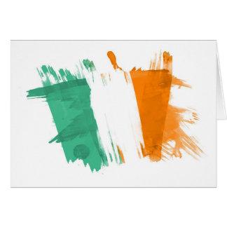 Artistic Ireland Flag - Customizable design Card
