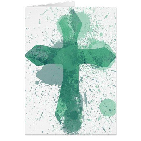 Artistic Jesus Cross for Easter Sunday Card