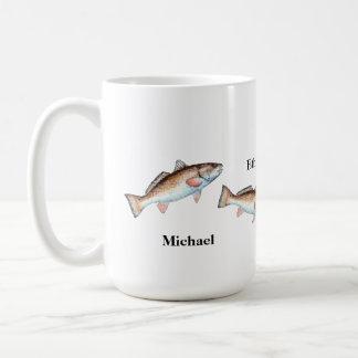 Artistic Jumping Redfish Personalized Mug
