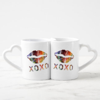Artistic Kiss Coffee Mug Set