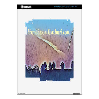 Artistic Landscape Hope On Horizon Quote Decals For iPad 3