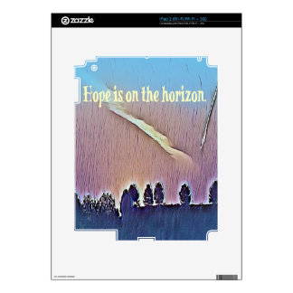 Artistic Landscape Hope On Horizon Quote Skin For iPad 2