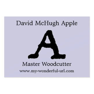 """Artistic Letter """"A"""" Hand Lettered Style Initial Business Card Templates"""