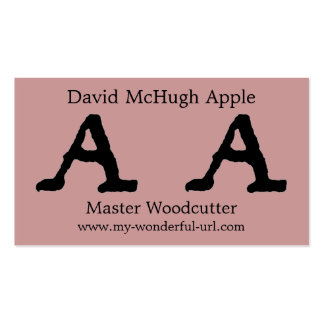 """Artistic Letter """"A"""" Hand Lettered Style Initial Business Card"""