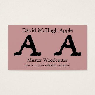 "Artistic Letter ""A"" Hand Lettered Style Initial Business Card"
