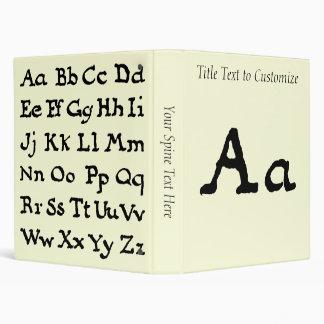 "Artistic Letter ""A"" Woodcut Woodblock Initial Binder"