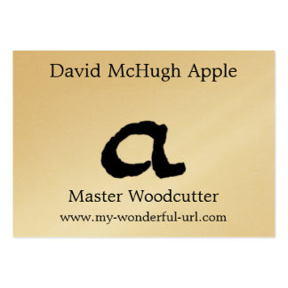 """Artistic Letter """"A"""" Woodcut Woodblock Initial Business Card"""