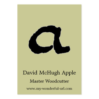 "Artistic Letter ""A"" Woodcut Woodblock Initial Large Business Cards (Pack Of 100)"
