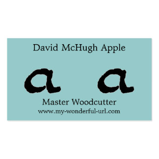 "Artistic Letter ""A"" Woodcut Woodblock Initial Double-Sided Standard Business Cards (Pack Of 100)"