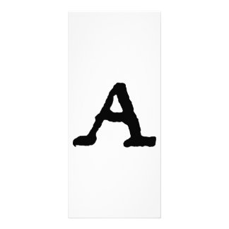 Artistic Letter A Woodcut Woodblock Initial Customized Rack Card