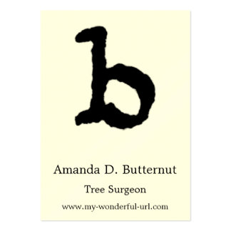 "Artistic Letter ""B"" Hand Lettered Style Initial Large Business Cards (Pack Of 100)"