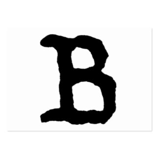 "Artistic Letter ""B"" Hand Lettered Style Initial Business Card"