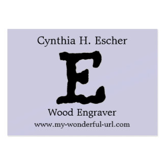 "Artistic Letter ""E"" Hand Lettered Style Initial Business Card"