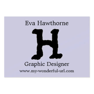 "Artistic Letter ""H"" Hand Lettered Style Initial Business Card"