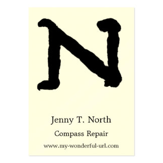 "Artistic Letter ""N"" Hand Lettered Style Initial Business Card Template"