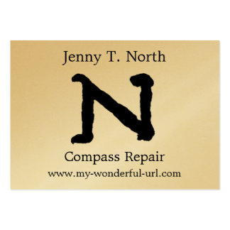 "Artistic Letter ""N"" Hand Lettered Style Initial Business Cards"