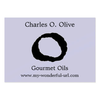 "Artistic Letter ""O"" Hand Lettered Style Initial Business Card"
