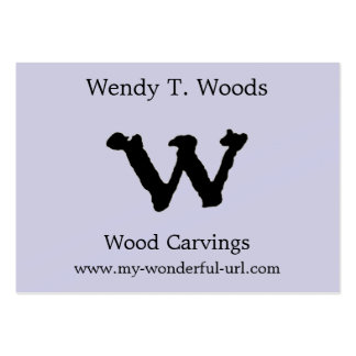 "Artistic Letter ""W"" Hand Lettered Style Initial Business Cards"