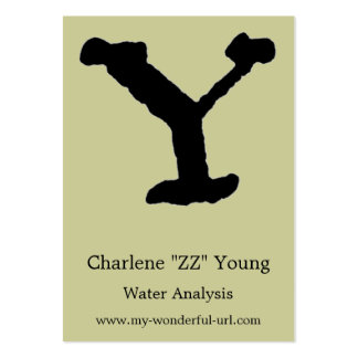"Artistic Letter ""Y"" Hand Lettered Style Initial Business Cards"