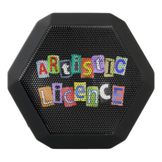 Artistic licence. black bluetooth speaker