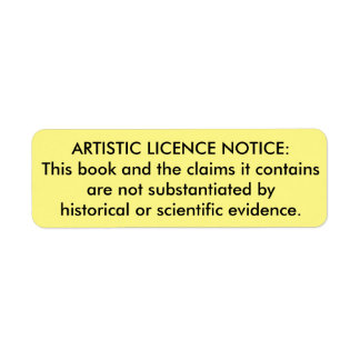 """Artistic Licence"" sticker for Bibles"