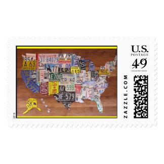 Artistic License 50 States Postage Stamp