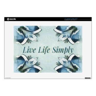 Artistic Light Airy Blue Green Positive Pattern Laptop Skin