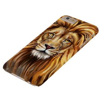 Artistic Lion Face Barely There iPhone 6 Plus Case